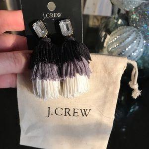 JCrew NWT Gorgeous Thread Tassel Earrings
